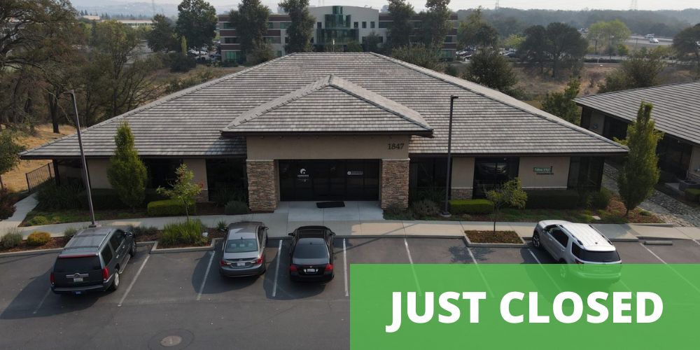 just closed office building at 1847 Iron Point Road, Folsom CA 95630