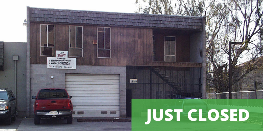 just closed mixed-used commercial real estate at 1112 C St, Sacramento, CA 95814